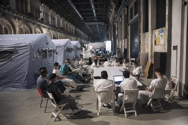 Daily meeting of Cuban an Italian doctors