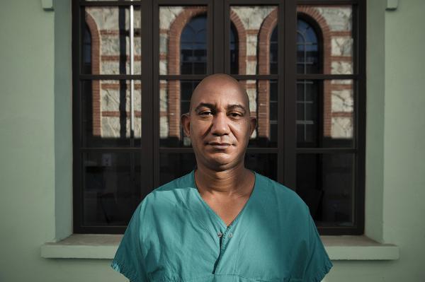 Abel Tobìas, one of the doctor of the Cuban Brigade. He is from Santiago de Cuba.