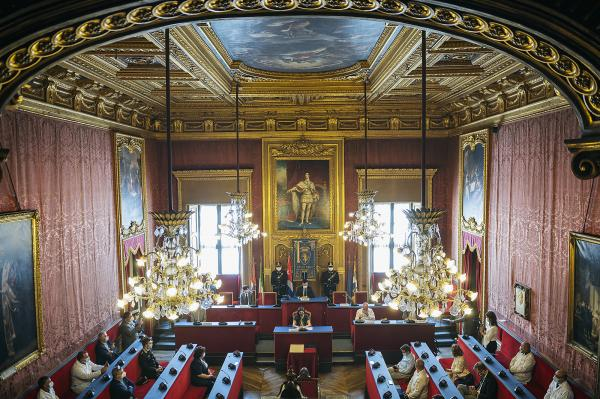 City Hall, Turin, Italy. doctor Julio Guerra Izquierdo has been made honorary citizen by the mayor of Turin, Chiara Appendino