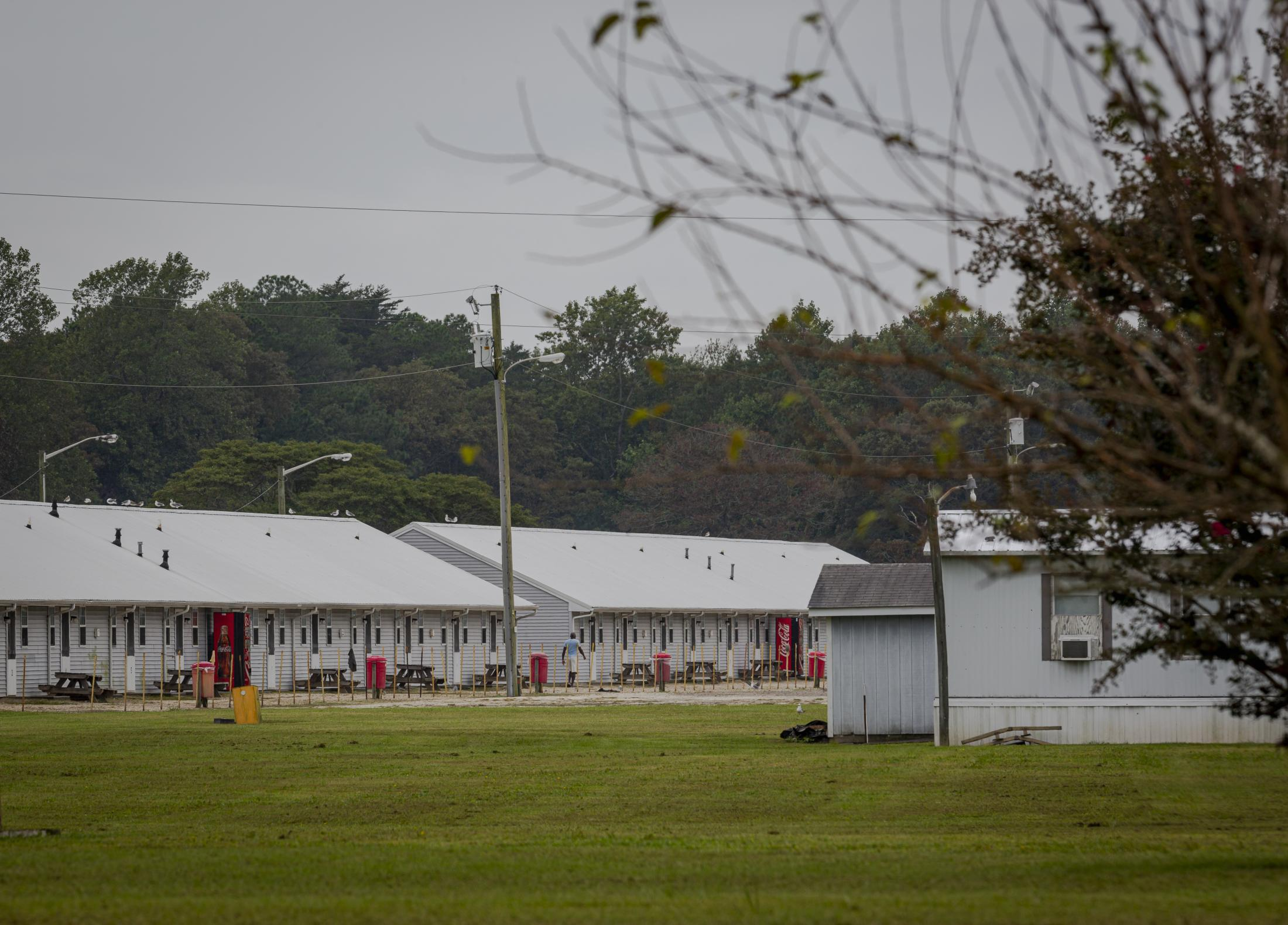 CHERITON, VA - September 26, 2020: Barracks where agriculture workers stay during each season. Seasonal farmworkers are brought by the thousands to toil in the tomato fields, since the start of the covid-19 pandemic, their conditions have worsened. Photo: Carlos Bernate for The New York Times