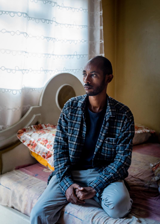 """Solomon Kabede former """"political dissident"""" in Addis Abeba, Ethiopia for DER SPIEGEL"""