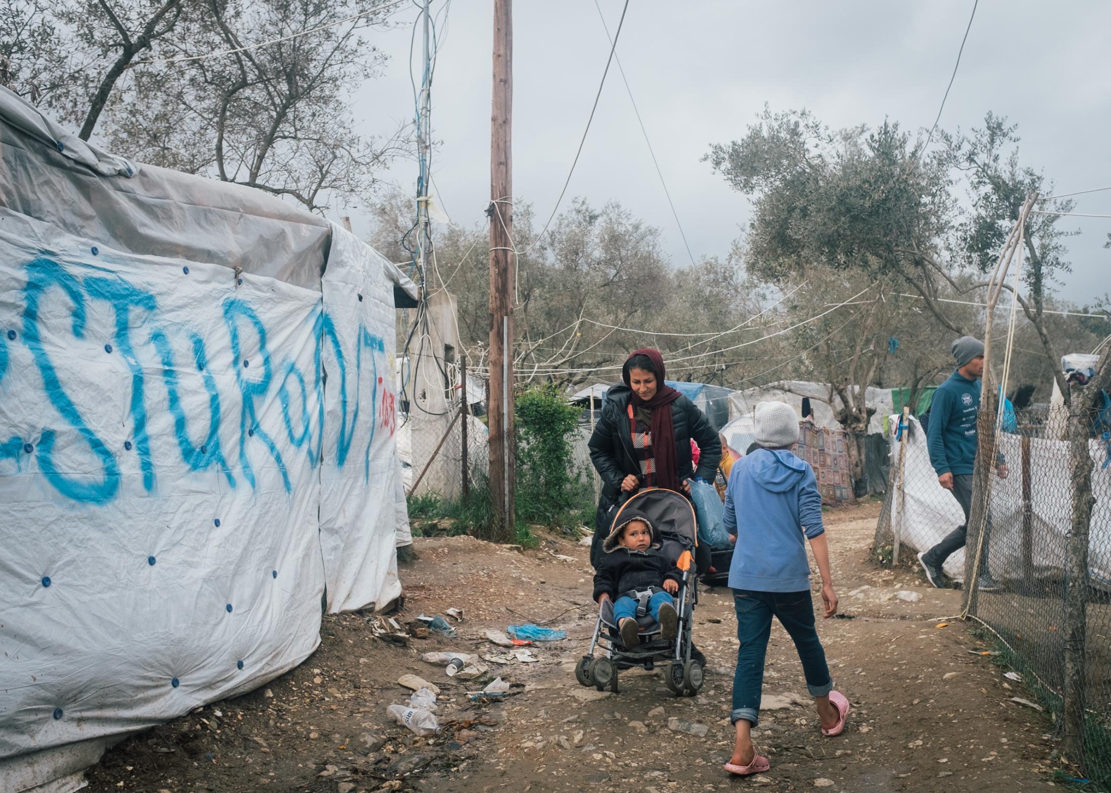 Das Flüchtlingslager Moria auf der Insel Lesbos ist mit knapp 21.000 Geflüchteten das größte Camp Europas. //
