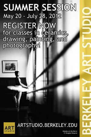 Berkeley Art Studio / Program posters around UC Berkeley