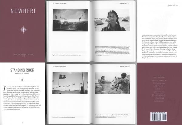 Nowhere Magazine / 25 page spread on Standing Rock coverage