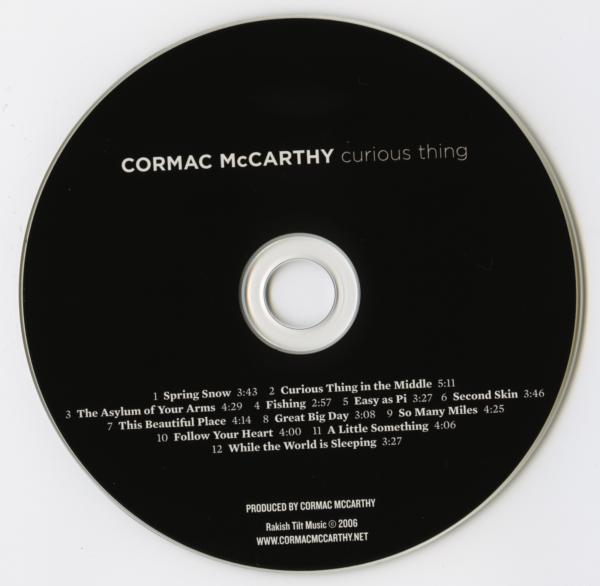 Cormac McCarthy / Curious Thing music album campaign