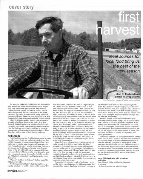 Portsmouth Magazine / Spotlight on Tuttle Farm in NH