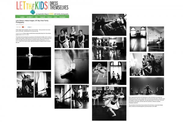 Let The Kids Dress Themselves / Feature containing Alameda Civic Ballet dance photos