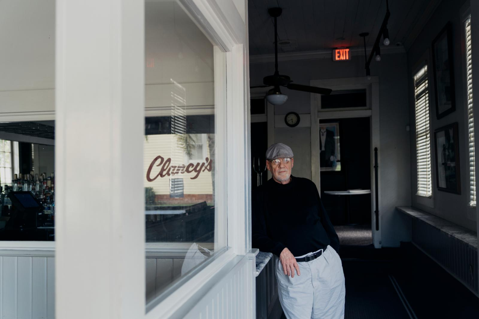 Brad Hollingsworth, owner of Clancy�s, poses for a portrait on March 27, 2020. (Annie Flanagan for The New York Times)