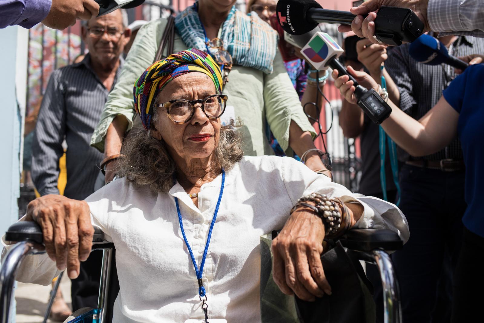 7 de octubre de 2019. Líderes comunitarios de Vieques y Culebra llegan para reunirse con la gobernadora Wanda Vázquez