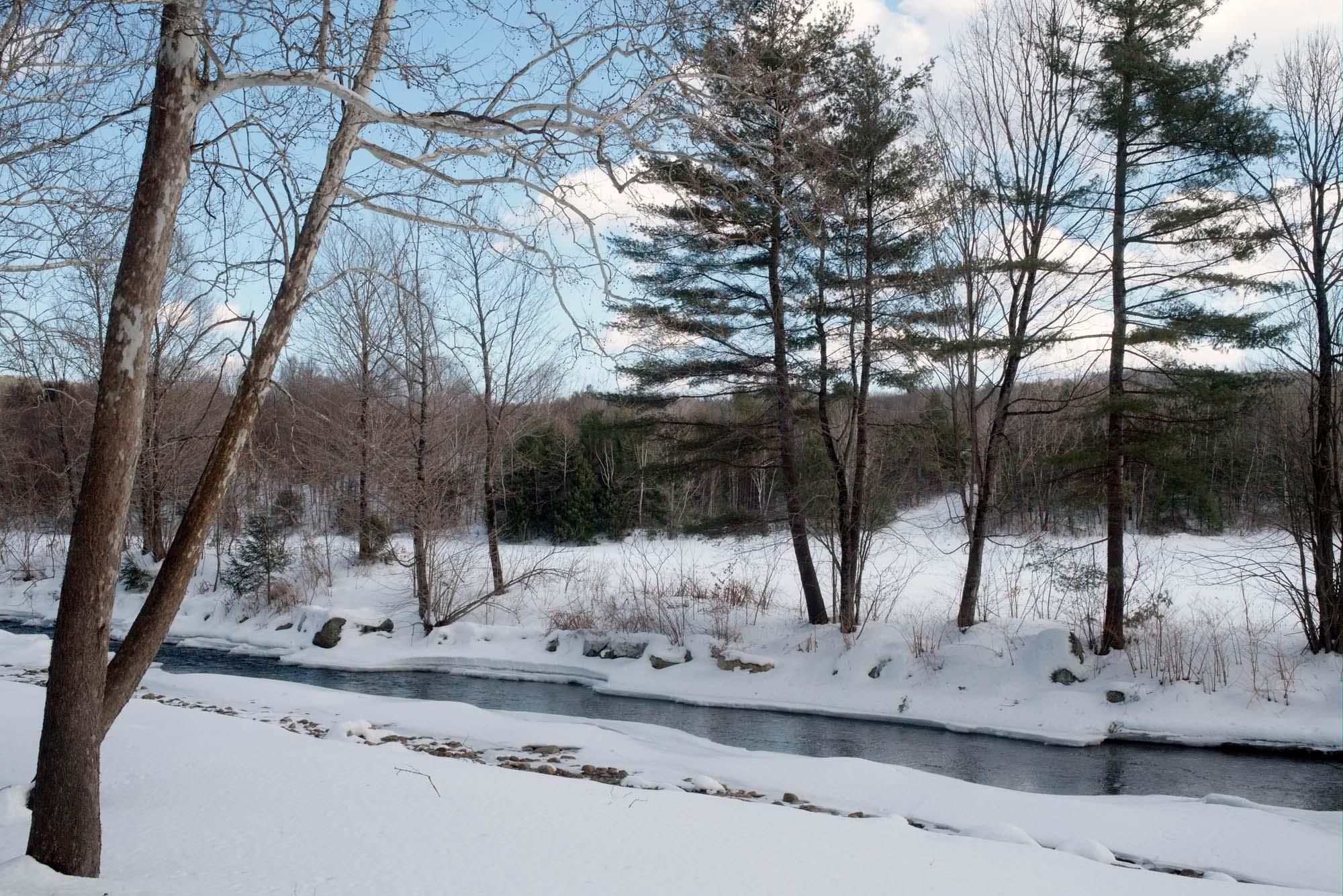 Cold River. Alstead, New Hampshire, USA. March 2015.