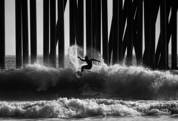 Surf In Black & White