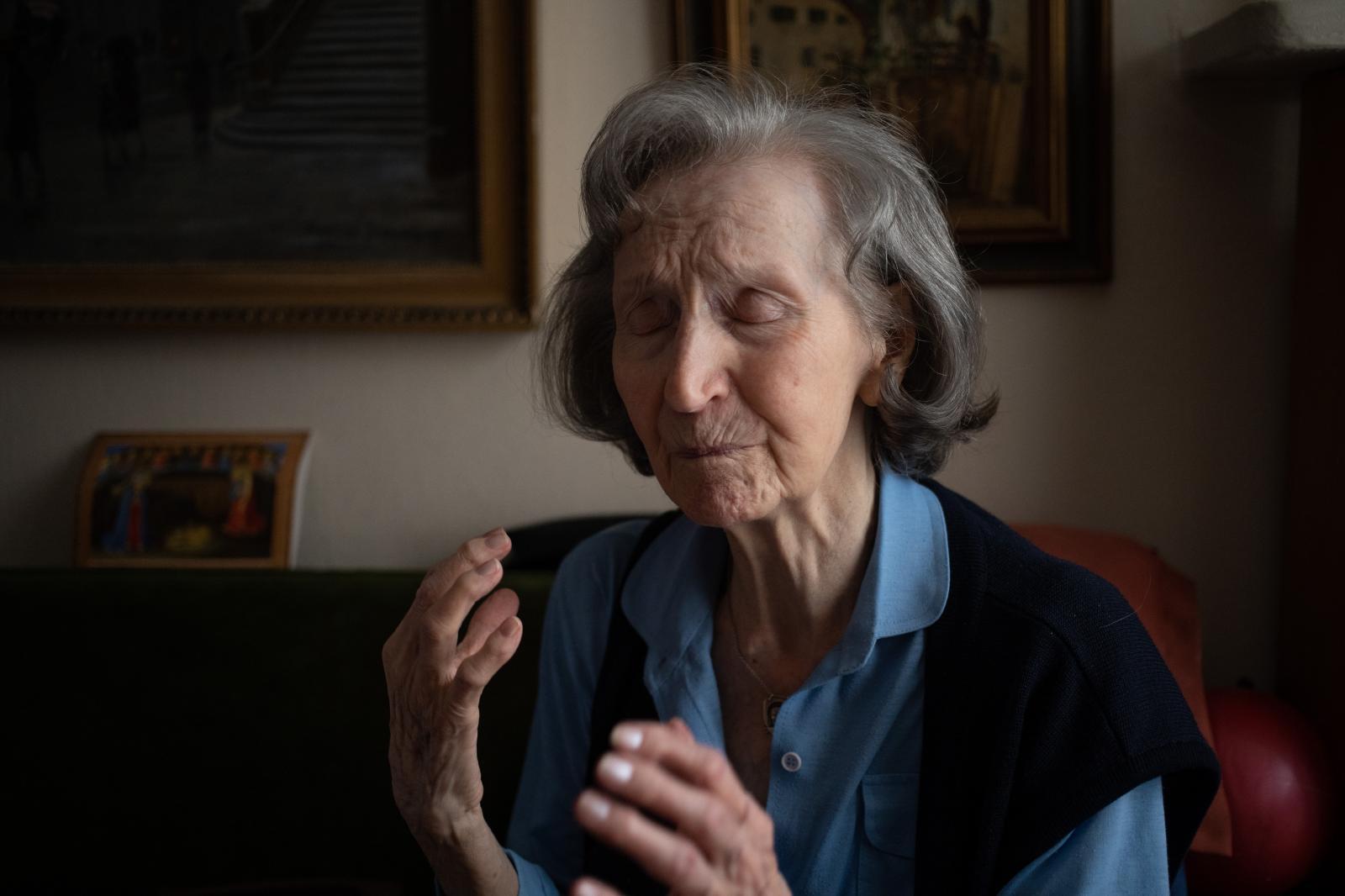 WARSAW, POLAND, 13/01/2020: Zofia Posmysz, 96 years old Auschwitz concentration camp survivor, at her home in Warsaw. (Photo by Piotr Malecki)
