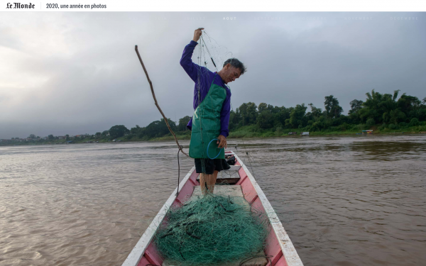 2020, A Year in Pictures - LE MONDE  The photo from the Mekong Story is part of 2020, A Year in Pictures.
