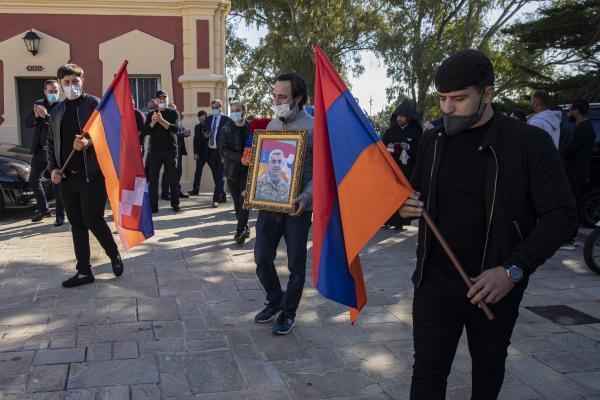 Funeral for Armenian militiaman killed in war against Azerbaijan