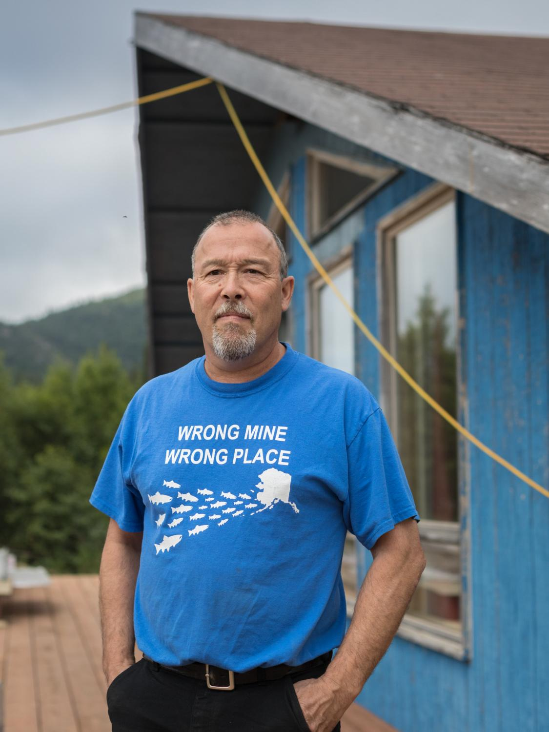 Keith Jensen, president of the Village Council of Pedro Bay, Alaska. This small settlement on the coast of Lake Iliamna has stood together against the proposed Pebble Mine, using the Village Council's land holdings to block a northern transportation route the mine had proposed.