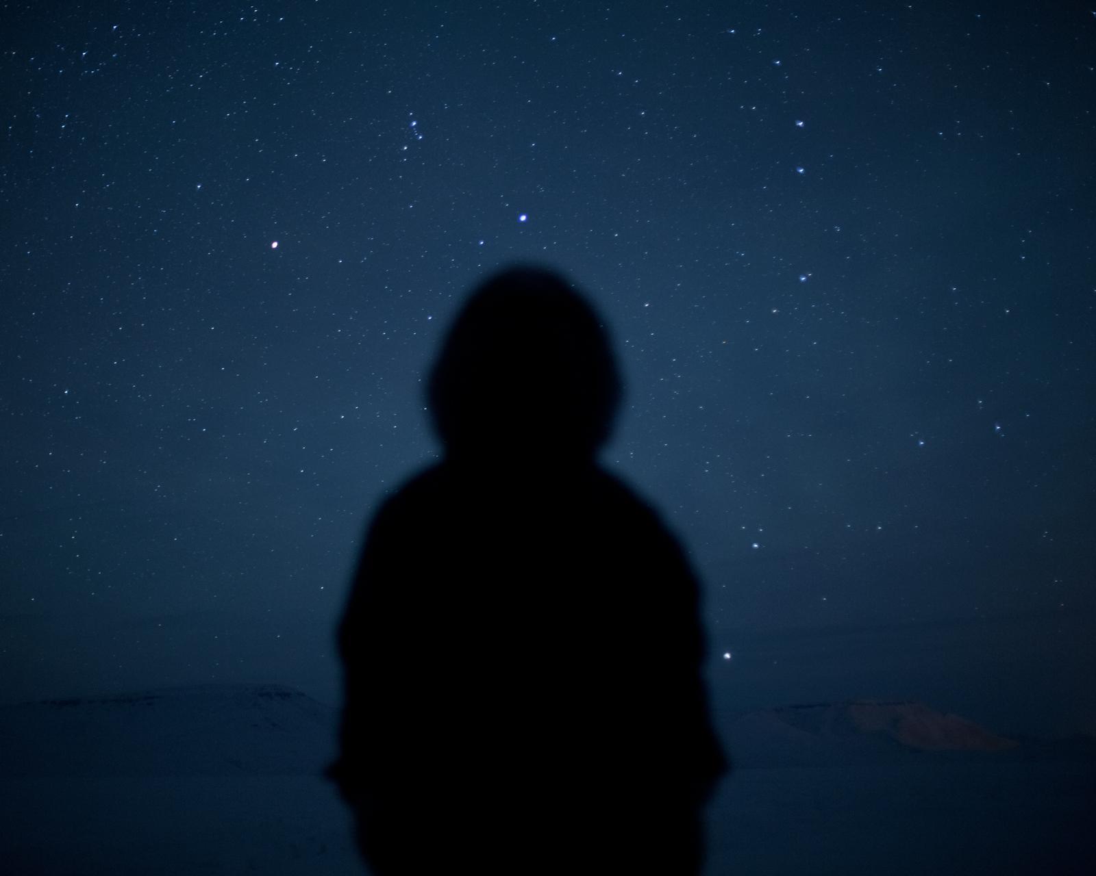 Self-portrait by starlight.