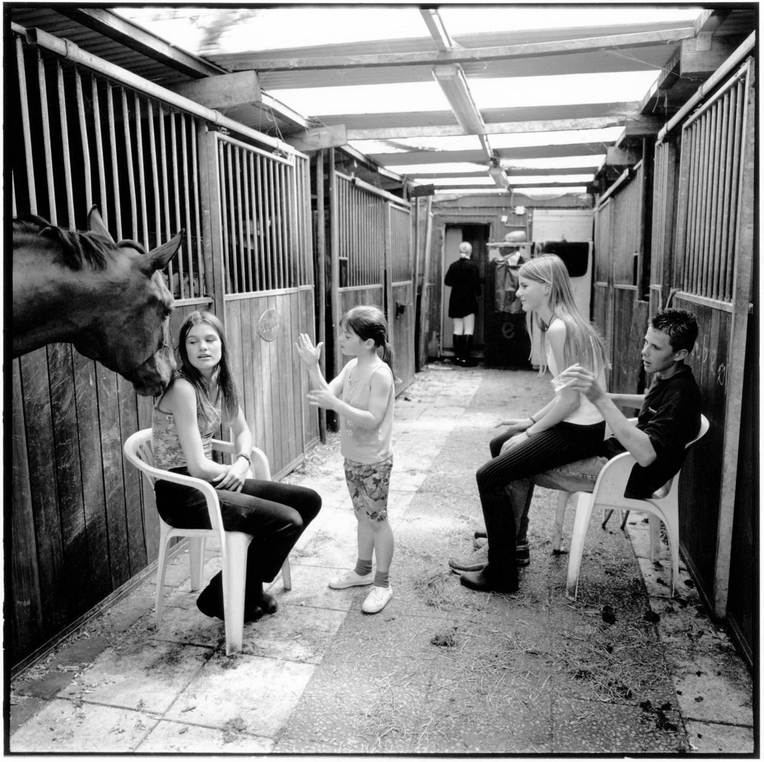 Riding school De Uiterwaardse. Oudewater, The Netherlands. May 2000.