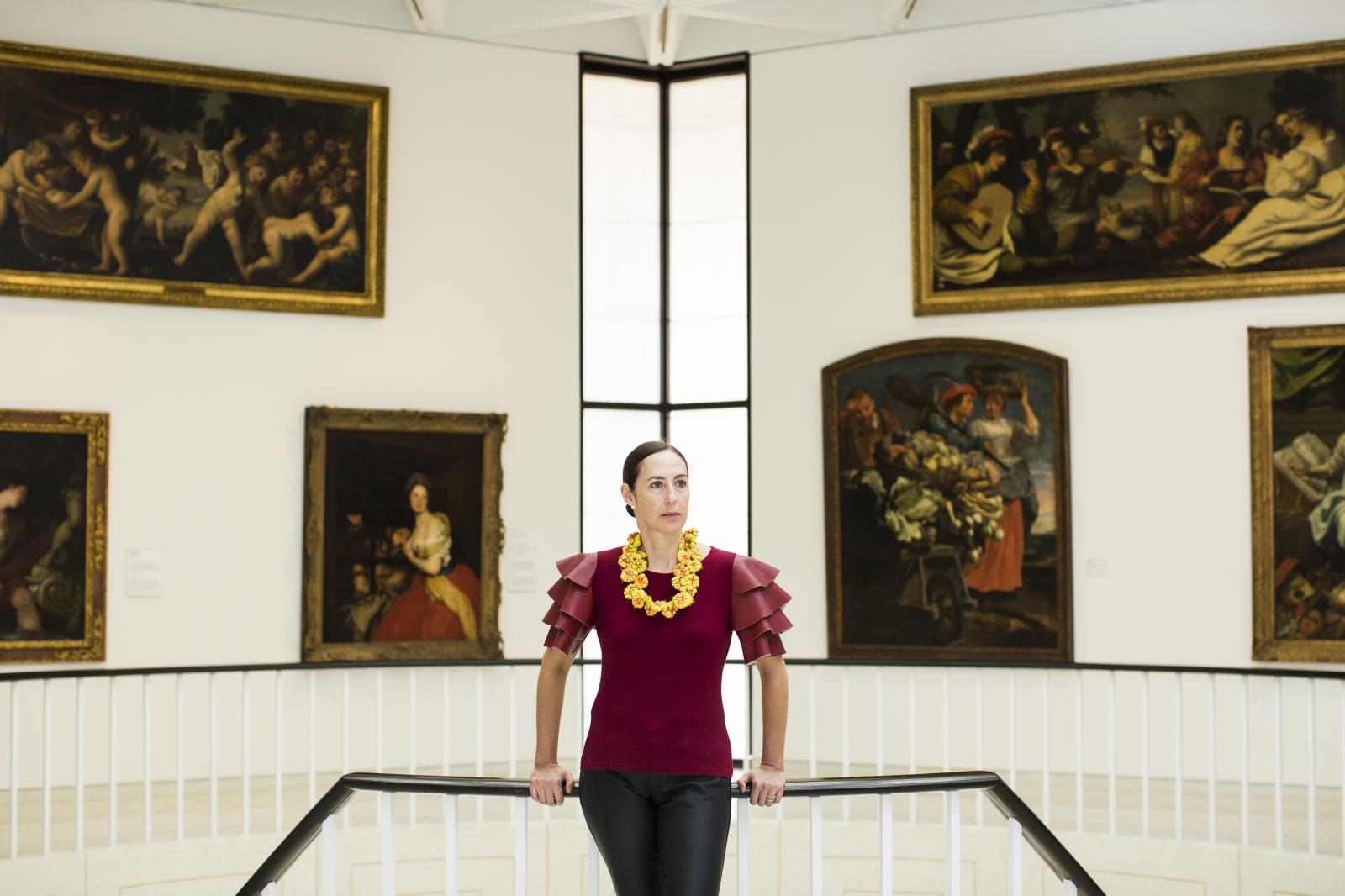 Alejandra Pe�a Gutierrez, executive director of the Museum of Art of Ponce, poses for a portrait at the institution on Feb. 21, 2018, in Ponce, P.R. The museum did not suffer major damages after hurricane Maria landed on Sep. 20, 2017, but it was one of the few museums prepared with a power generator to maintain their collection safe. According to Pe�a they struggled to access fuel for the generator after the storm as there was gas shortage throughout the island. The museum has the biggest collection of European art in the Caribbean.