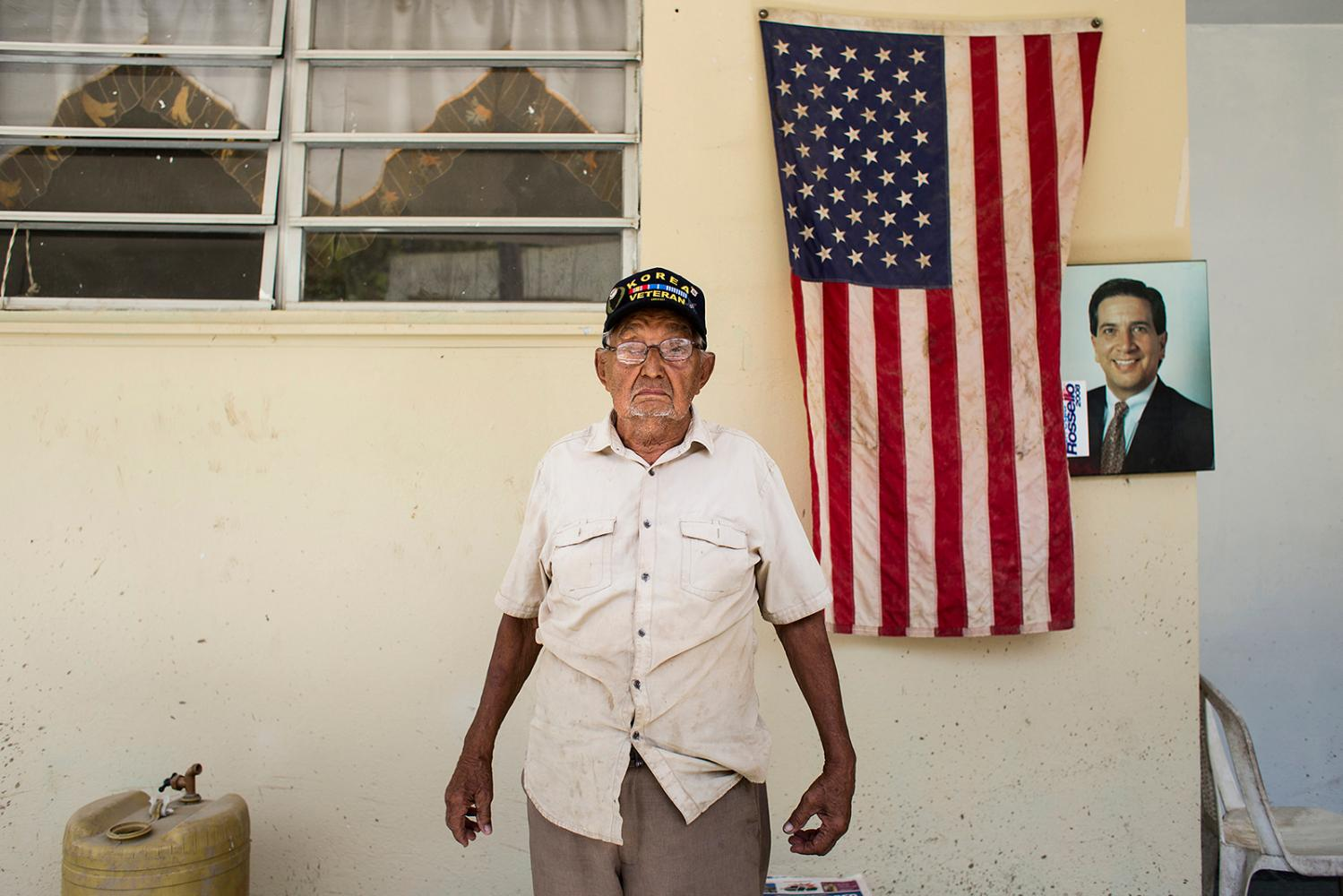 Miguel Qui�ones, a veteran, poses for a portrait in his home at Barrio Bubao in Utuado, on Oct. 25, 2017. (Erika P. Rodriguez)