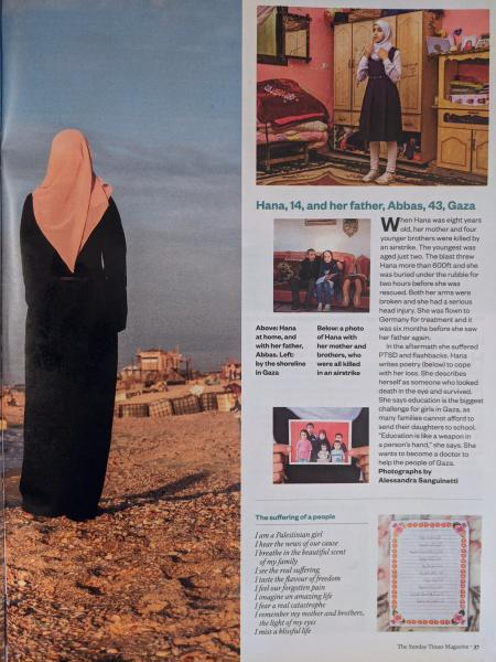 The Sunday Times Magazine, March 8, 2020  https://www.thetimes.co.uk/article/i-miss-the-light-of-my-eyes-poems-from-young-women-in-war-zones-lvf6zgbwn