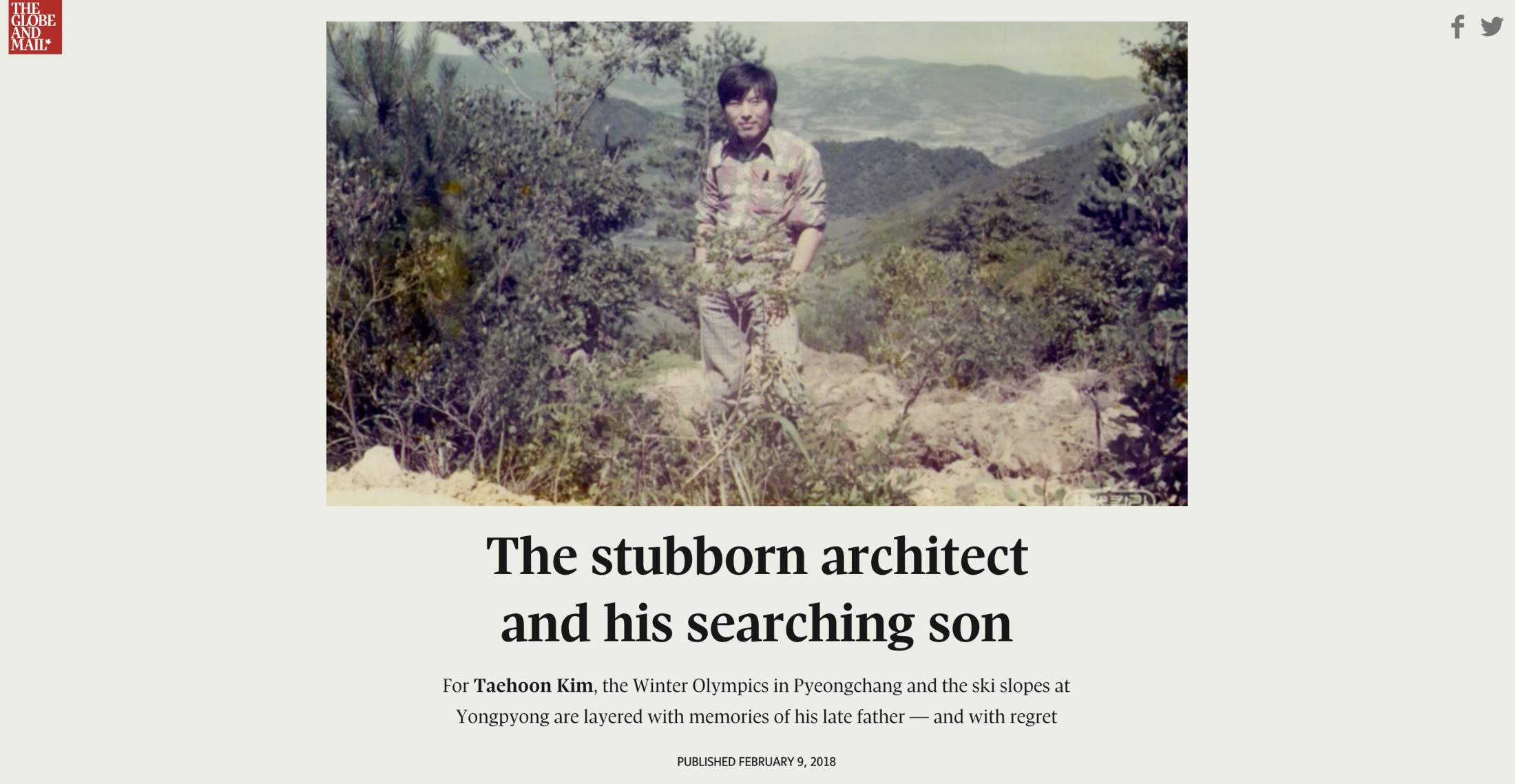 The Stubborn Architect and his Searching Son (The Globe and Mail)