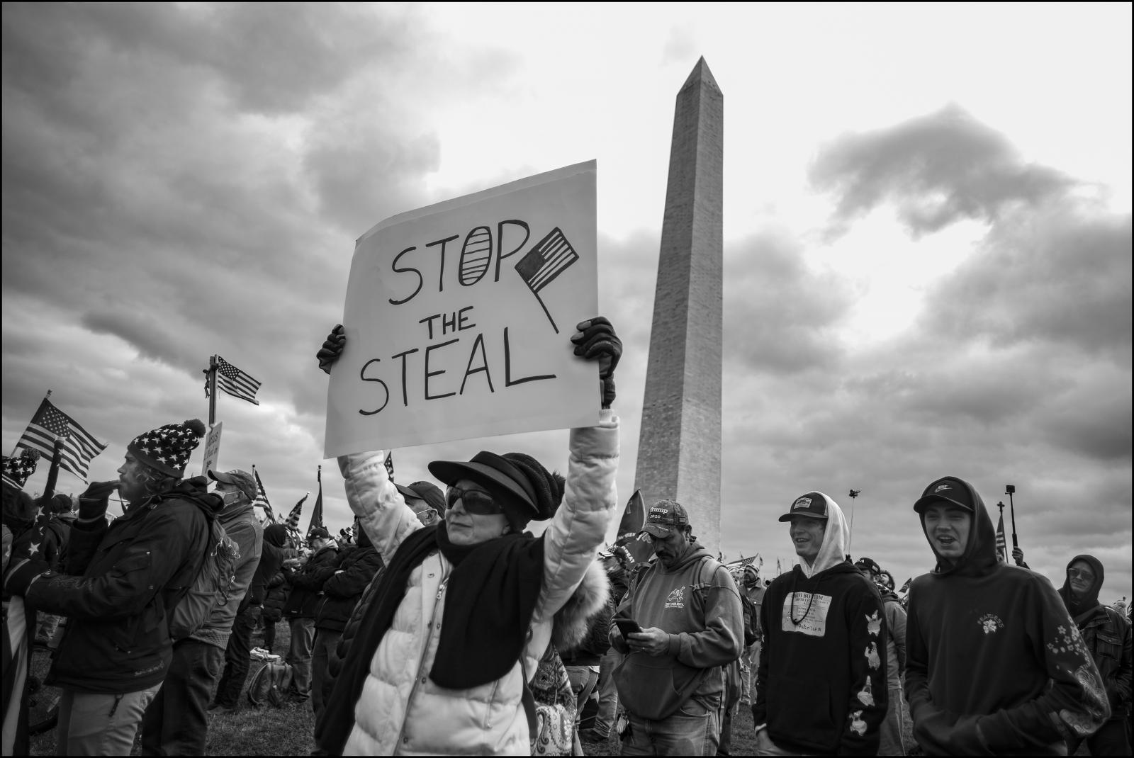 Rally to overturn the November 2020 elections. Washington D.C. 01/06/21.