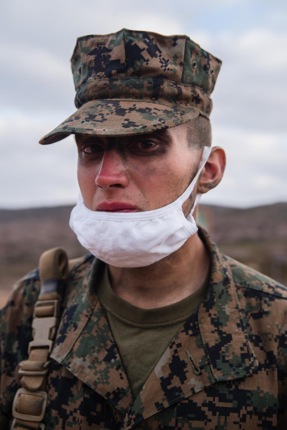 Noah Vanhoose, 18 years old from Indiana completed the three day crucible at Camp Pendleton. Vanhoose says he has come a long way and is thankful for his parents supporting him.