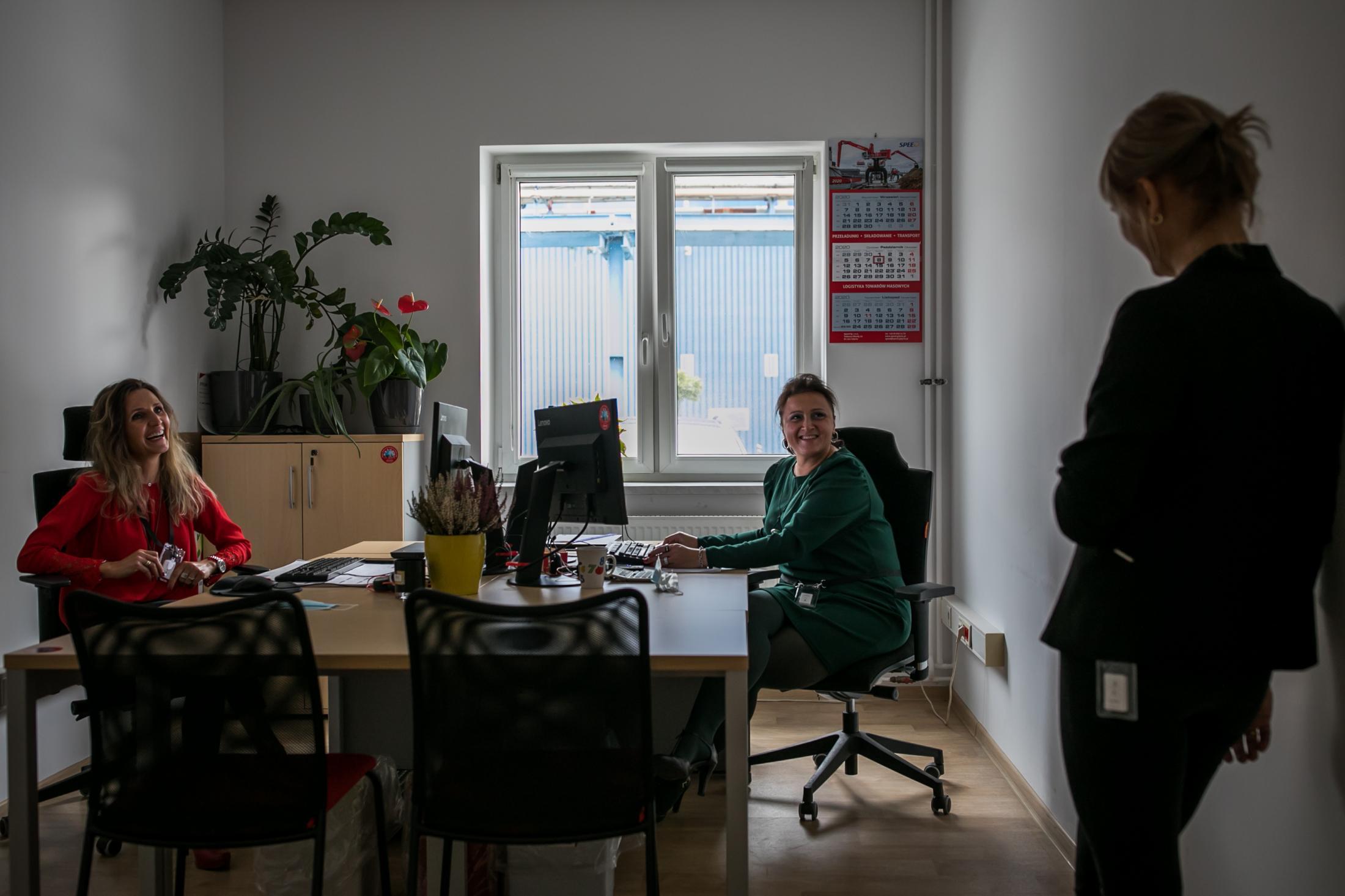 2020 Henkel plant, Raciborz, Poland. SafeZone-digital social distancing technology Henkel is using to prevent the spread of corona.