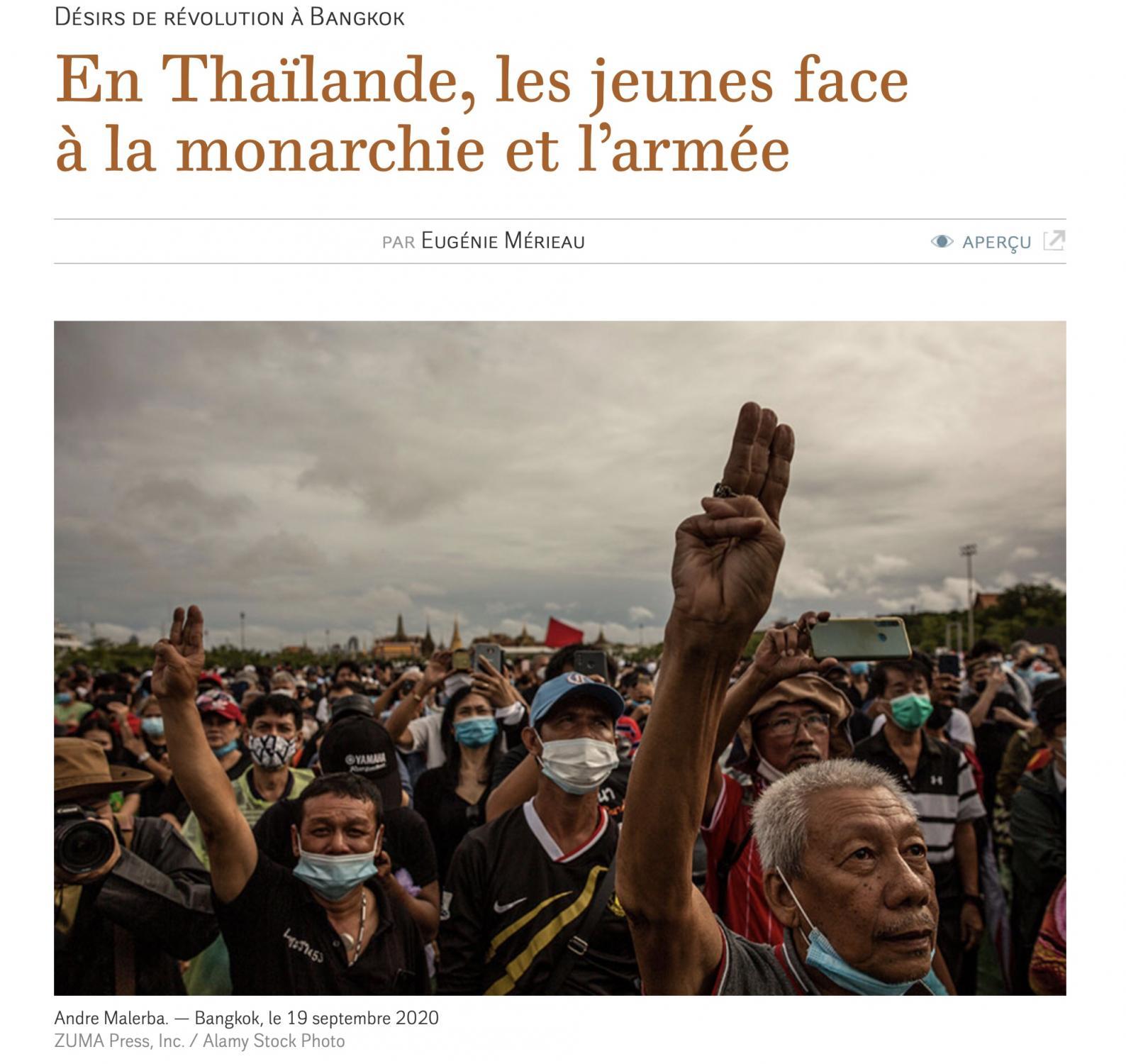 Le Monde diplomatique, January 2021.