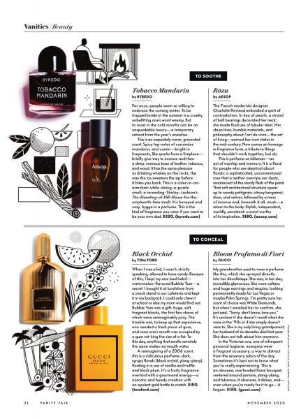 Fragrance Styling for Vanity Fair November 2020
