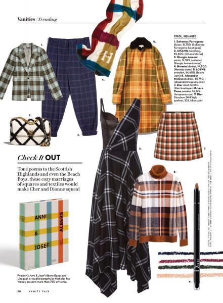 Styling for Vanity Fair November 2020 Styled: Eyeliner, (top left) Jacket, Pants, Blanket