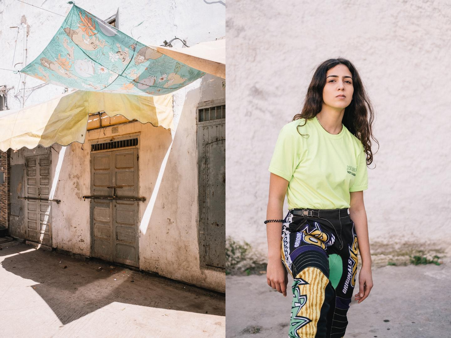 Sofia says that imposing her way of being was not so difficult for her because she began to assert herself in a particular style of clothing very early on. However, in Morocco, she feels oppressed by the gaze of people, the street remains a territory where clothing identity remains an issue, difference a provocation.