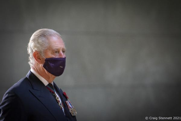 Prince Charles and The Duchess of Cornwall at the Neue Wache Central Memorial in Berlin for Germany's Day of Mourning.
