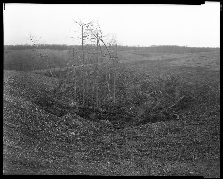 Cleared Land, Bub's Animal Waste Dump Site. Anderson, Missouri.