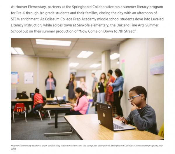 Oakland Literacy Coalition / Website content