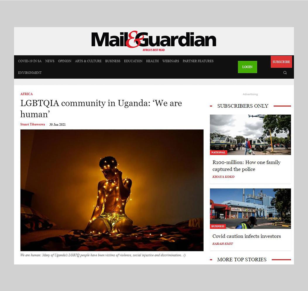 'We Are Human' - Mail and Guardian , February 2021