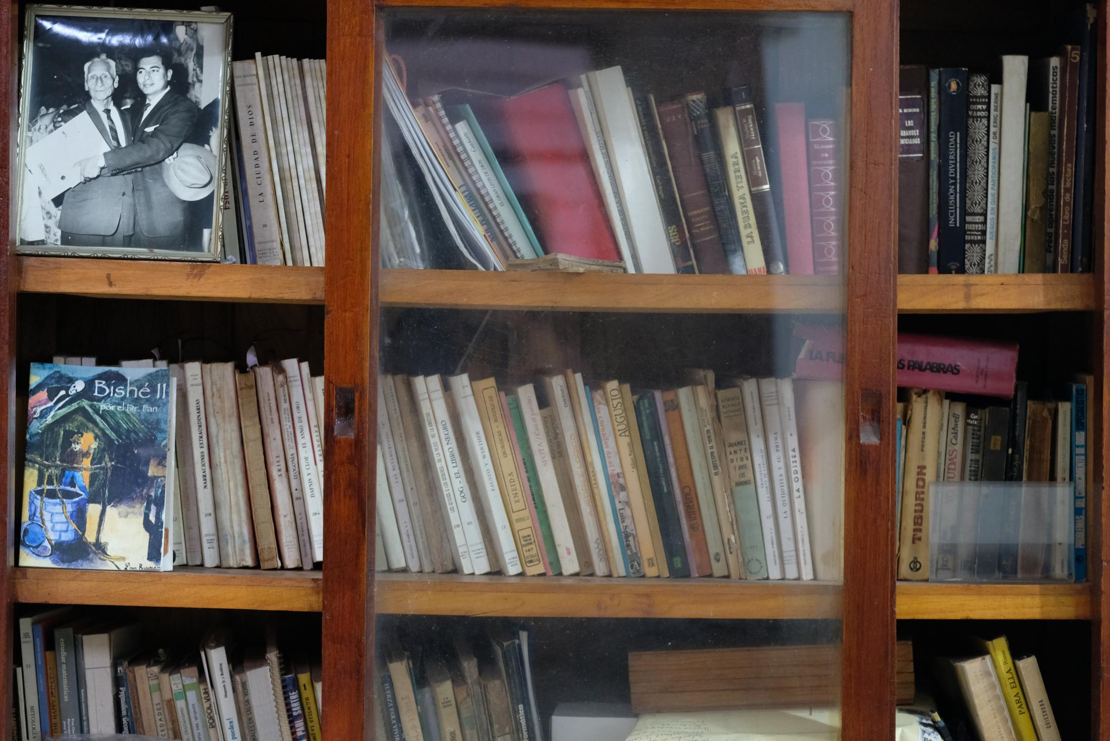 My grandfather, Juan Martinez Lopez, never learned Zapotec, Juchitan´s native language, until he was older and did a postgraduate degree in Medicine in Mexico City. After that, he wrote poetry in Zapotec as a protest to conserve his language. His small library remains untouched in his home in Juchitan since his death in 2008.