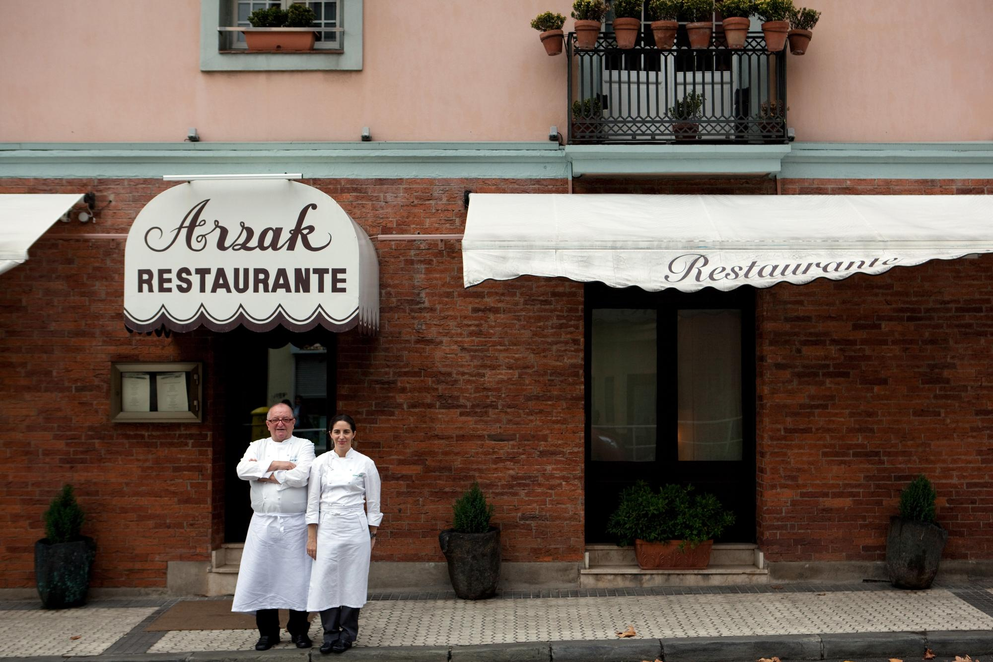 Juan Mari Arzak, chef-owner of one of the top 10 restaurants in the world - and his daughter Elena in San Sebastián, Spain