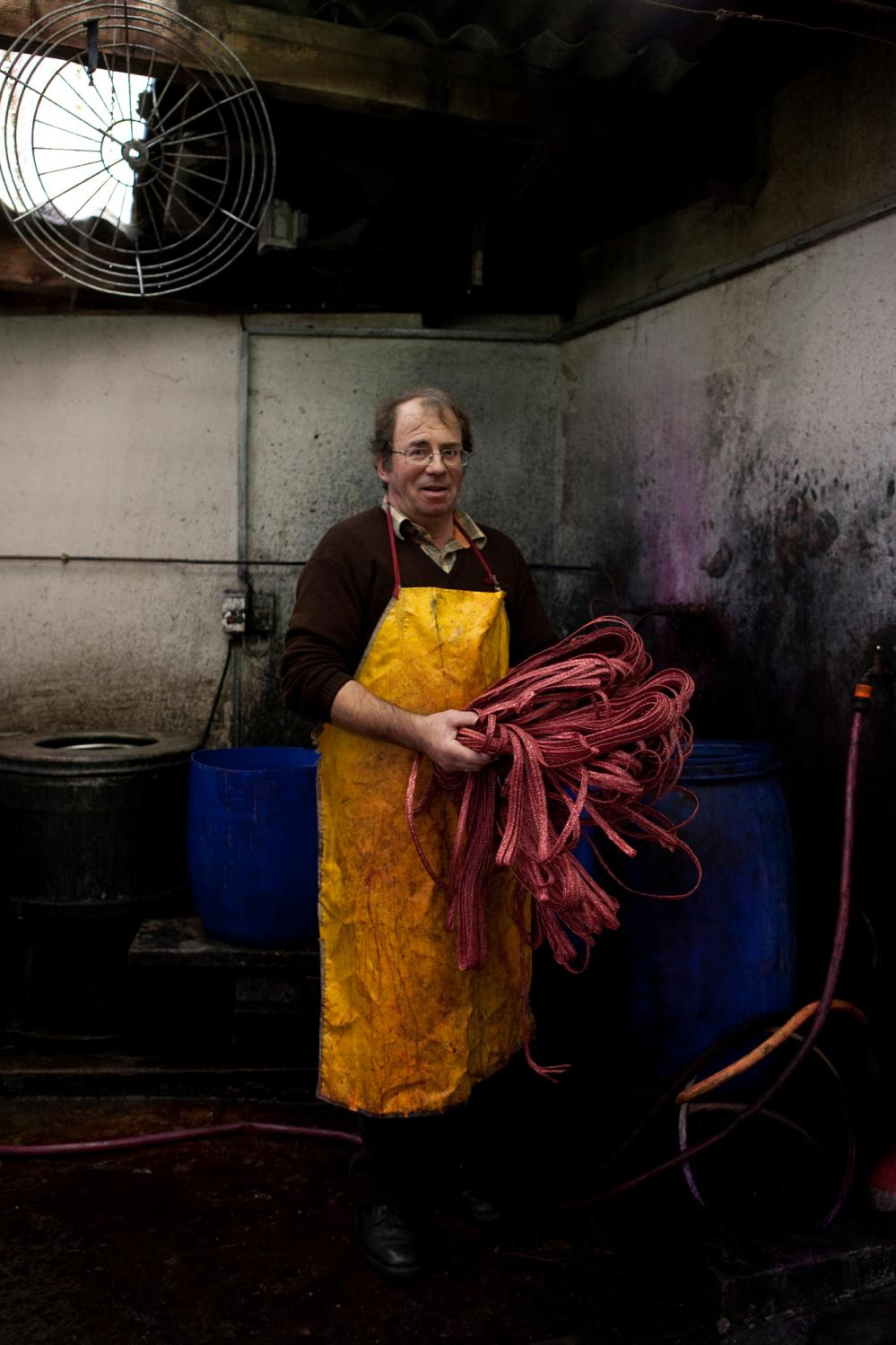 Jean-Claude Coustillères, one of the last hat makers in Septfonds, France