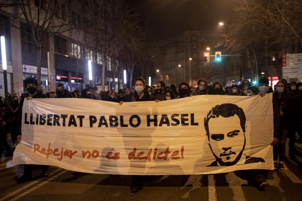 Protests for the arrest of rapper Pablo Hasel
