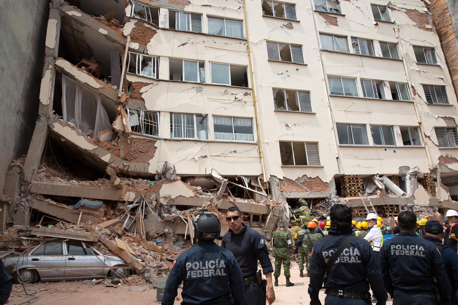 MEXICO Ongoing rescue operation for survivors feared trapped in a collapsed building felled by a devastating earthquake, in the Lindavista neighborhood of Mexico City on September 20, 2017. A 7.1 magnitude earthquake rocked Central Mexico the day before, killing more than 300 people and causing serious damage to buildings in the capital.