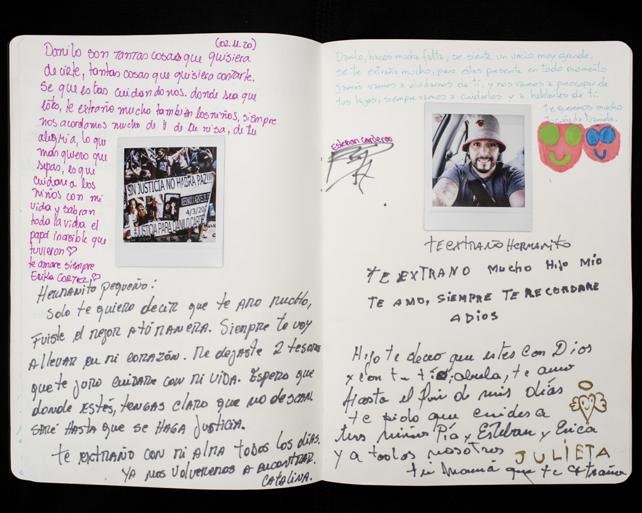 A family letter to the memory of Danilo Cárdenas, and his site of death. During the first days of the social uprising, the tollbooth was vandalized several times and served as a hotspot for confrontations between protesters and the police. During the night of March 4, 2020, Danilo crashed his car into a police patrol car at the tollbooth. An ensuing argument ended with Danilo being shot and killed by the police. Later videos from witnesses show how after the crash, cops put handcuffs on Danilo, and while he was on the ground begging for his life, one fired his gun at him.