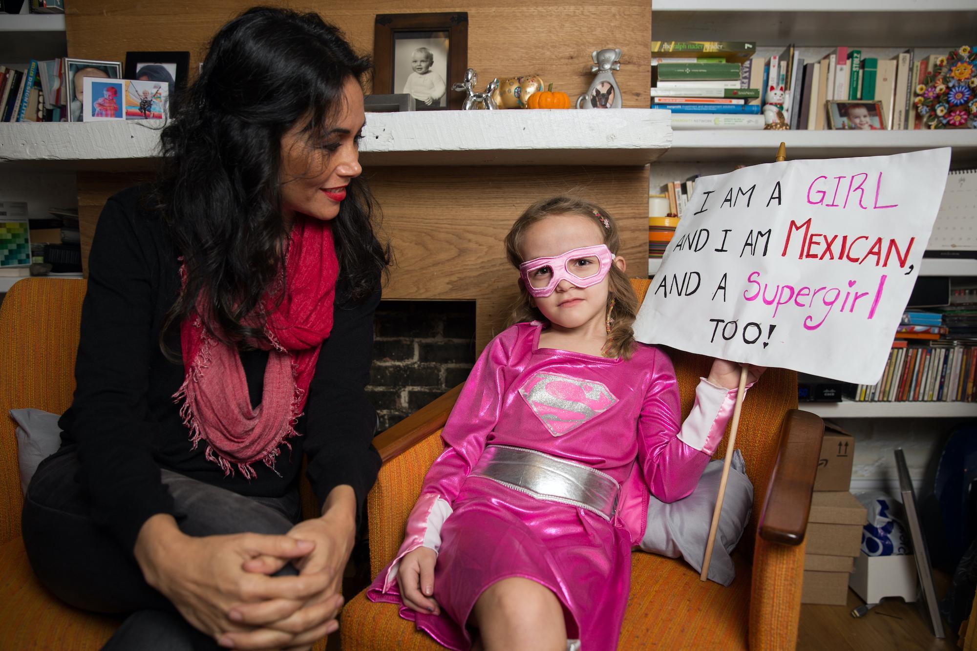 Susana Cabrera, 45, and her daughter, Carlota, 5.