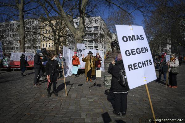 """Omas Gegen Rechts added their support to The International Women's Day. The Alliance for Sexual Self-Determination hold a rally at Nettlebeckplatz, Berlin, Germany. The group-The Alliance for Sexual Self-Determination- is a broad alliance of counseling centers, various feminist and general political groups, associations, trade unions and parties, as well as individuals. Since its founding in 2012, it has organized protests against the annual, nationwide """"March for Life"""". In addition to campaign for the deletion of paragraph 218 from the German penal code, Paragraph 218 is quite contradictory in its logic as according to German law laid out in the paragraph, anyone who terminates a pregnancy can be fined or imprisoned for up to three years. There is no criminal liability if the abortion is necessary in order to protect the health of the woman, if rape led to the pregnancy, or is the woman takes part in consultation and has the abortion before the 12th week of pregnancy. However, these exceptions do not make abortion legal; rather, the process is merely possible without punishment."""
