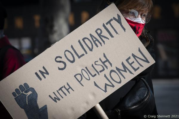 """International Women's Day. The Alliance for Sexual Self-Determination hold a rally at Nettlebeckplatz, Berlin, Germany. The group-The Alliance for Sexual Self-Determination- is a broad alliance of counseling centers, various feminist and general political groups, associations, trade unions and parties, as well as individuals. Since its founding in 2012, it has organized protests against the annual, nationwide """"March for Life"""". In addition to campaign for the deletion of paragraph 218 from the German penal code, Paragraph 218 is quite contradictory in its logic as according to German law laid out in the paragraph, anyone who terminates a pregnancy can be fined or imprisoned for up to three years. There is no criminal liability if the abortion is necessary in order to protect the health of the woman, if rape led to the pregnancy, or is the woman takes part in consultation and has the abortion before the 12th week of pregnancy. However, these exceptions do not make abortion legal; rather, the process is merely possible without punishment."""