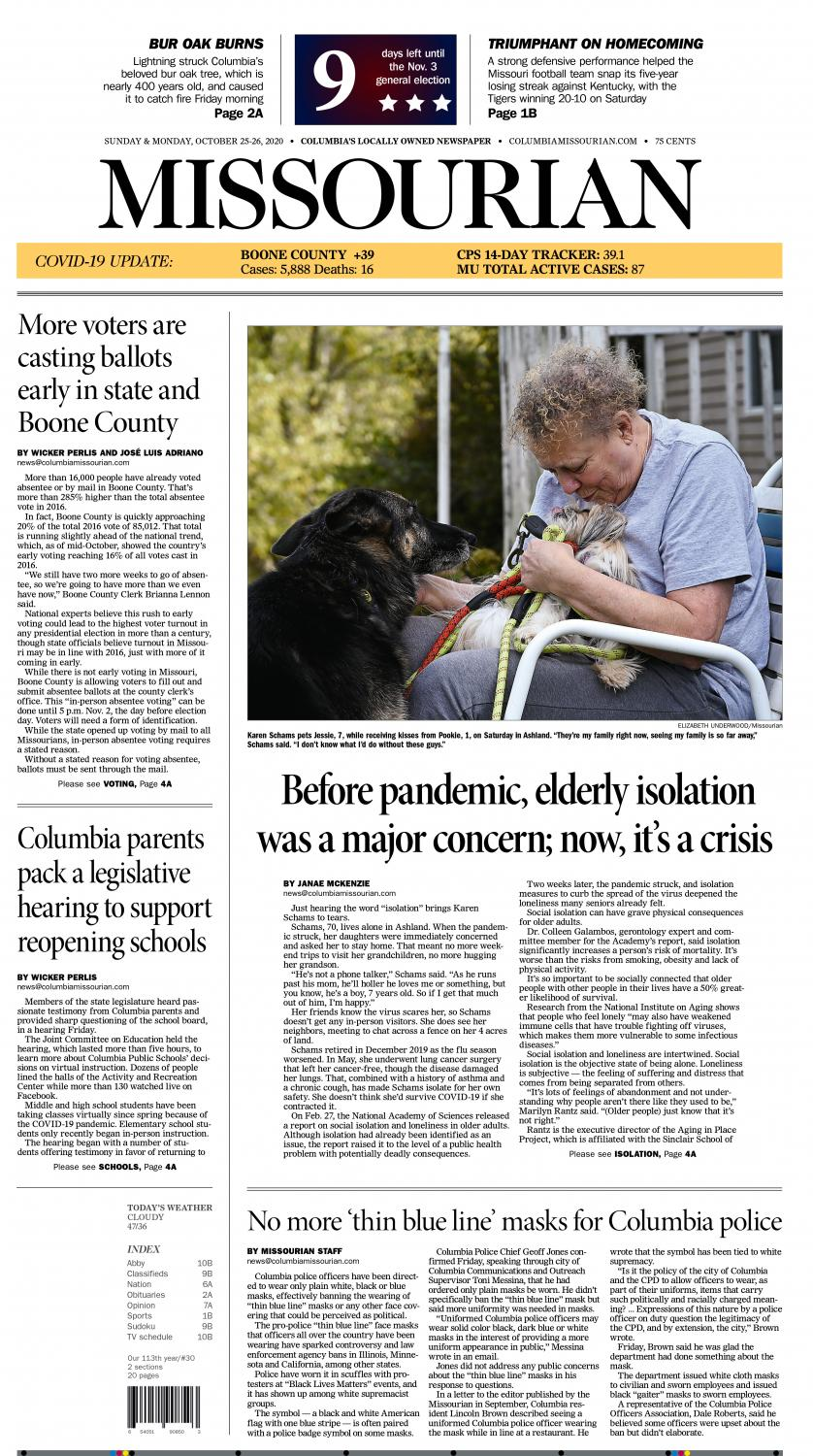 View web presentation. I worked with reporter Janae McKenzie on brainstorming about bringing visuals to her story on the elderly isolation crisis. Photographers Elizabeth Underwood and Blythe Dorrian were assigned to it.