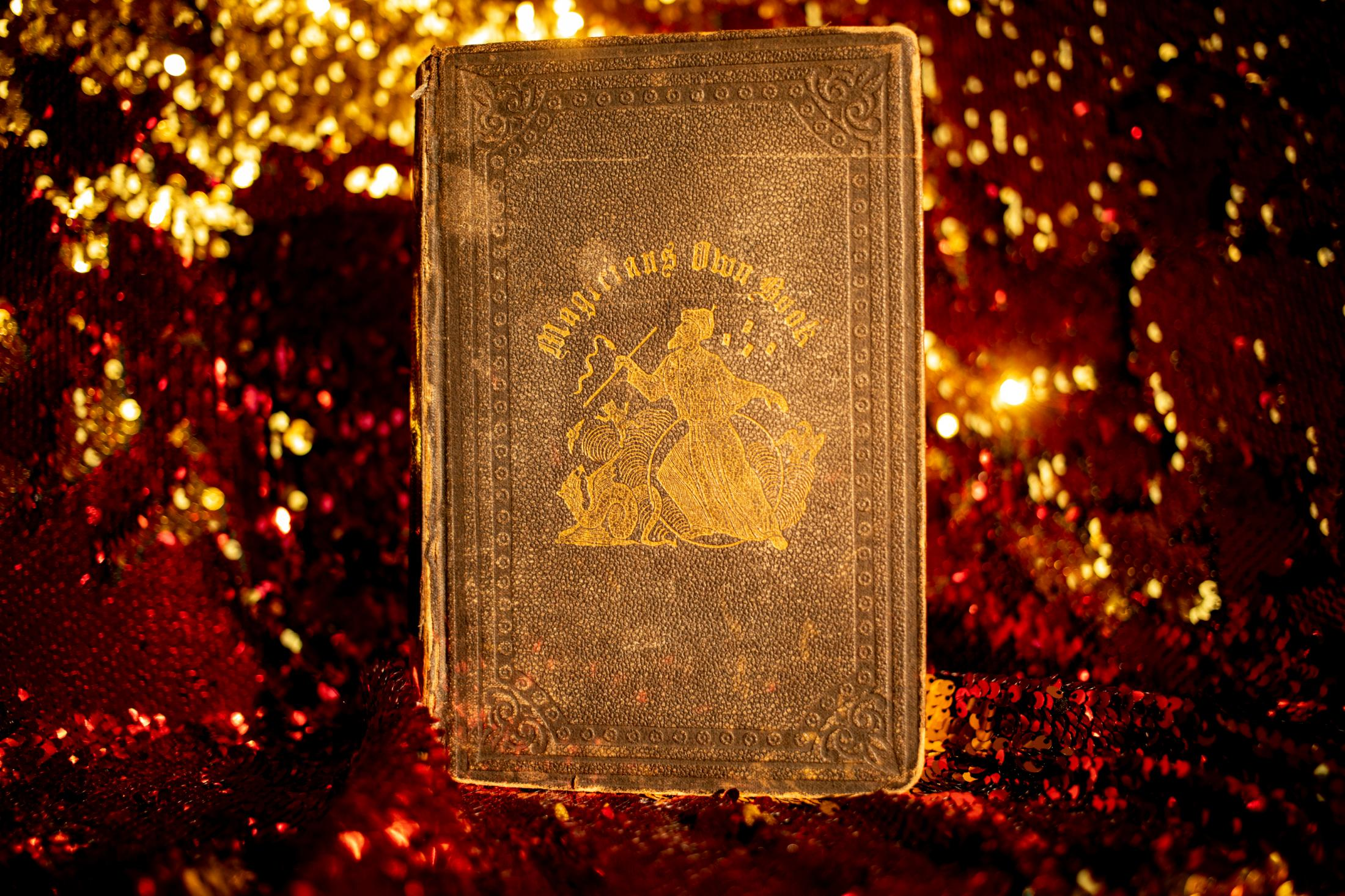 An old magic book that belongs to Elizabeth Messick. An old boyfirend gave it to her as a present.