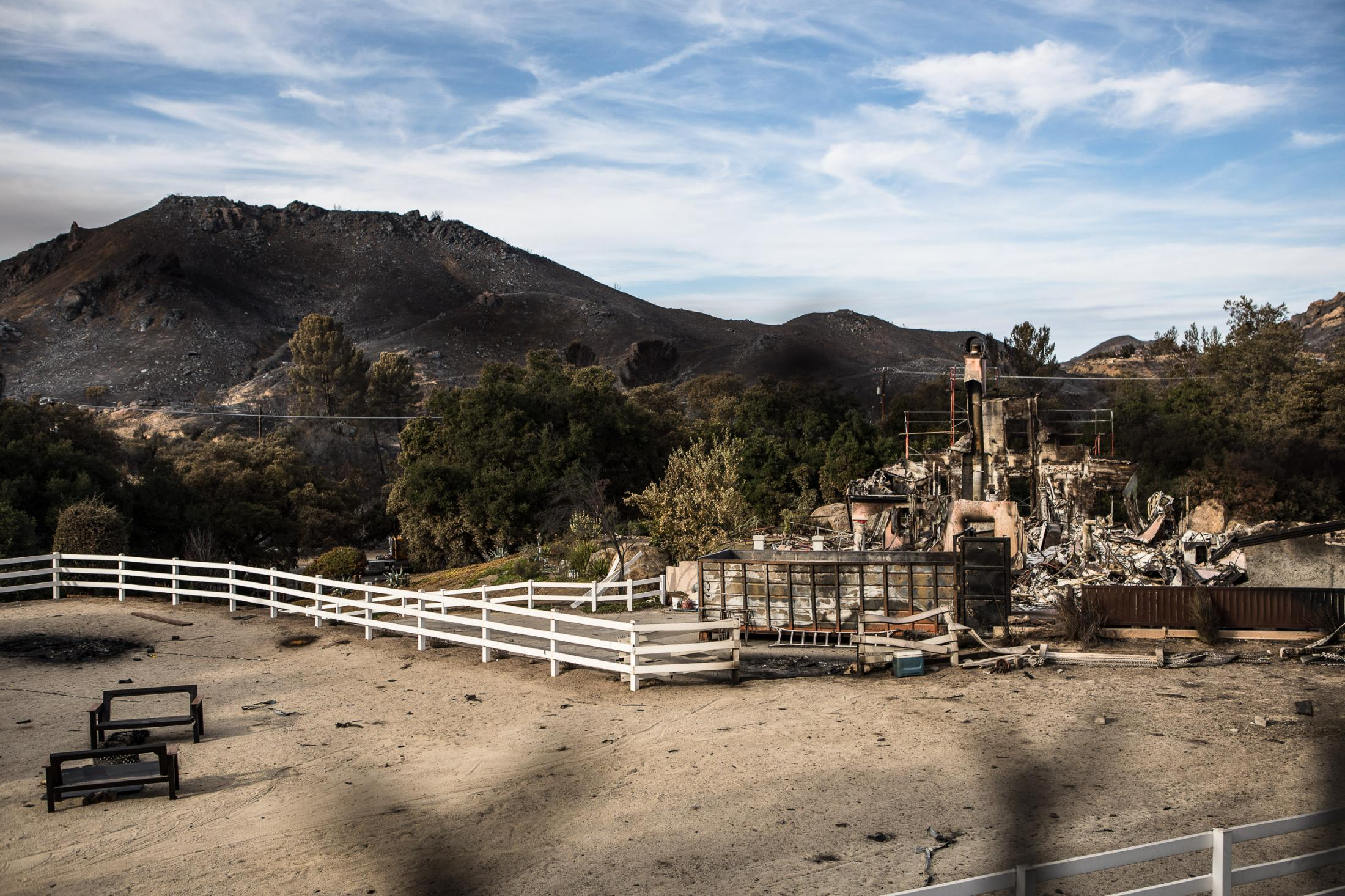 The fires just past though leaving nothing but devastation.