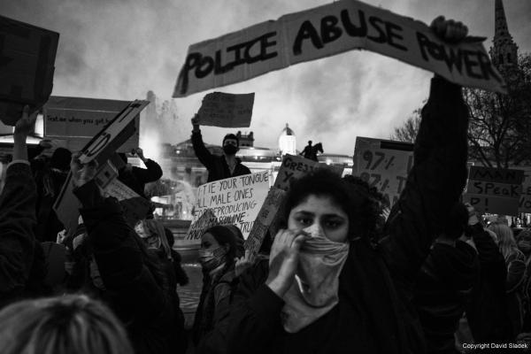 From Reclaim the streets - protest against policing of Sarah Everard vigil, London, 14/03/2021