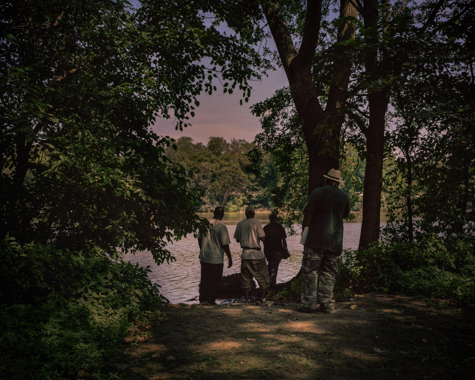 War veterans, Passaic River, Lyndhurst, New Jersey, USA, 2016